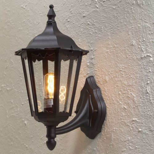 Klassieke wandlamp Fire, zwart - HANDGEMAAKT.EU: www.handgemaakt.eu/exterieur-huis/verlichting---buitenlampen...