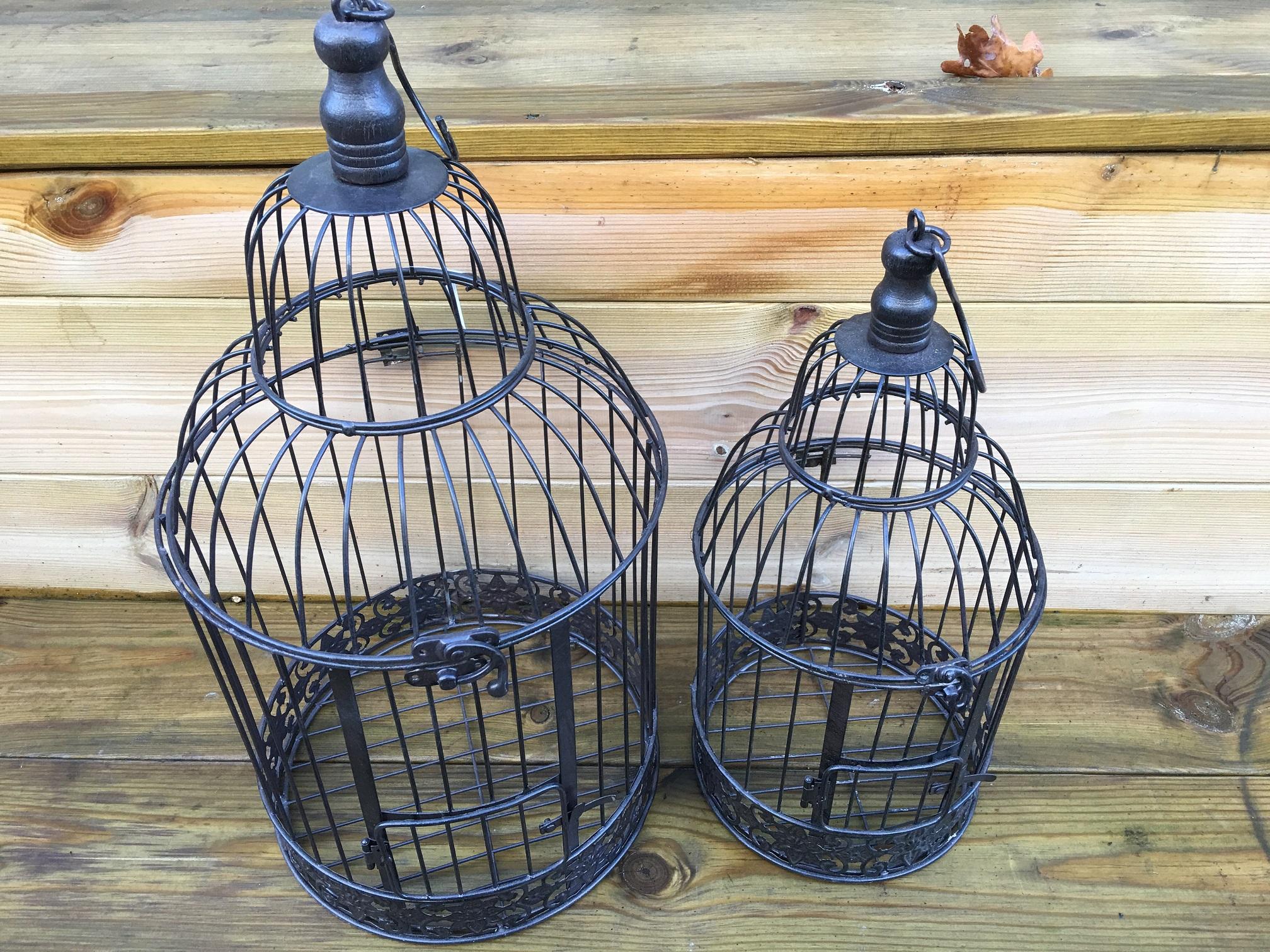 Vogelkooi In Huis : Lege vogelkooi geïsoleerd op wit u stockfoto gavran