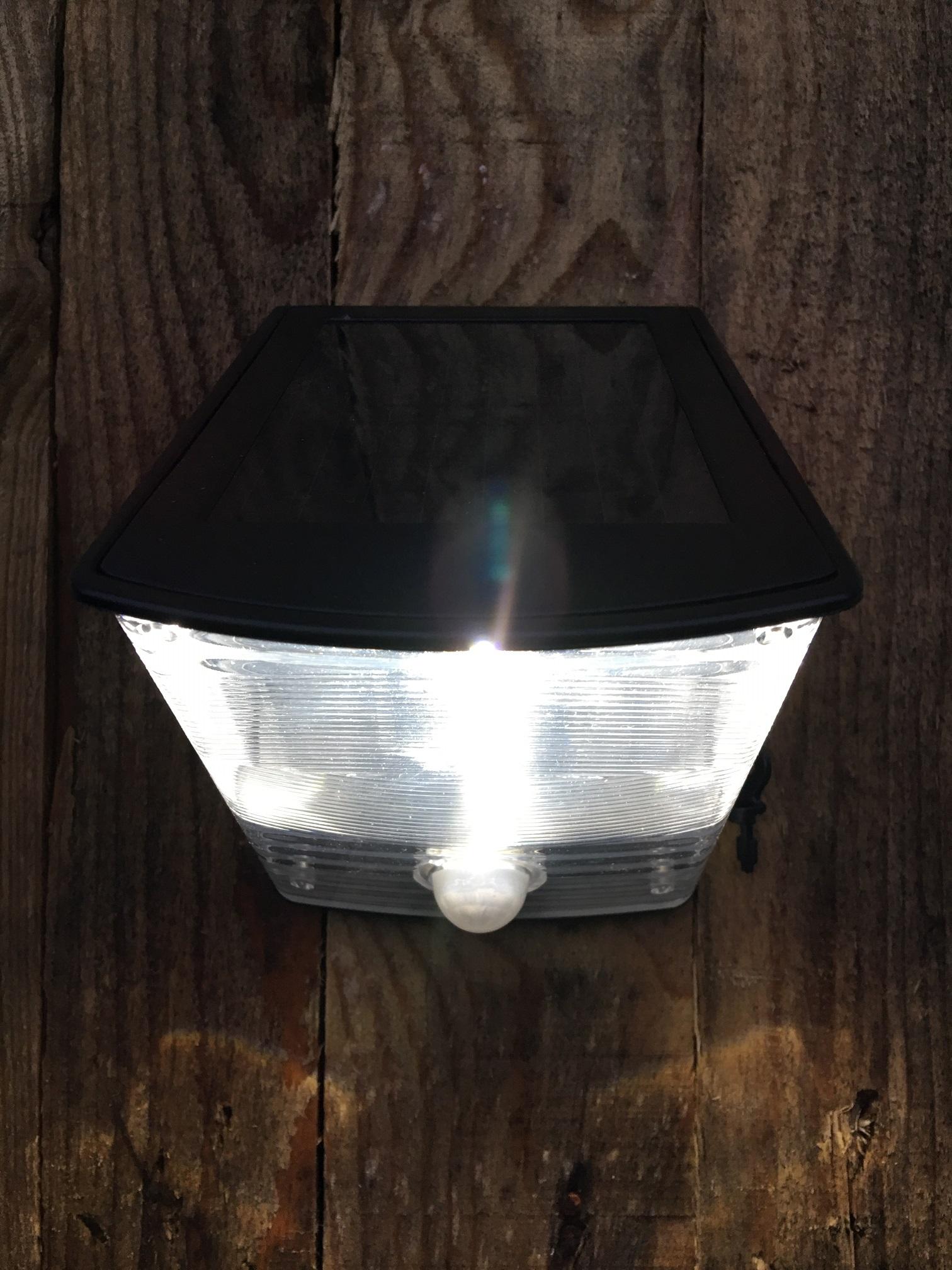 Mooie wandlamp led + solar verlichting+ bewegingsmelder ...