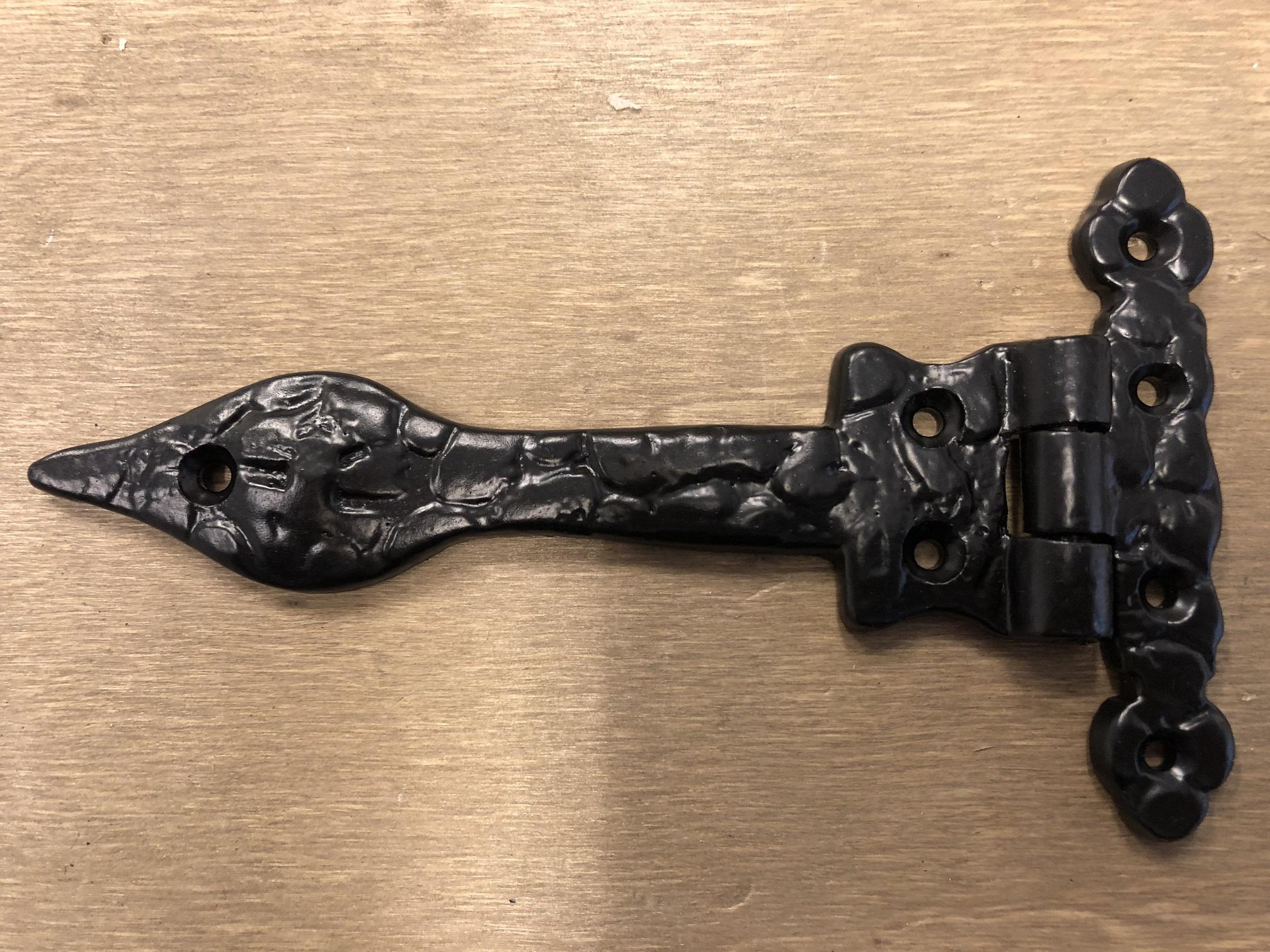 1 X Deur Kast Scharnier Deurband Zwart Borstband Antiek Ijzeren Deur Handgemaakteu