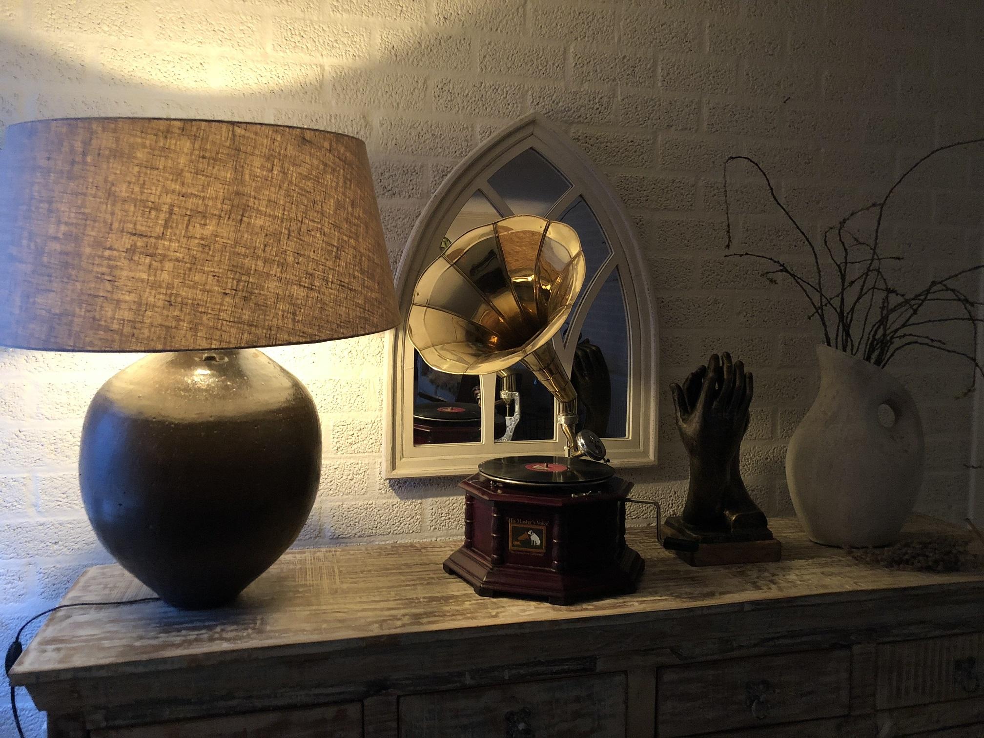 Platenspeler Als Decoratie : 1 grammofoon platenspeler hout en metaal handgemaakt.eu