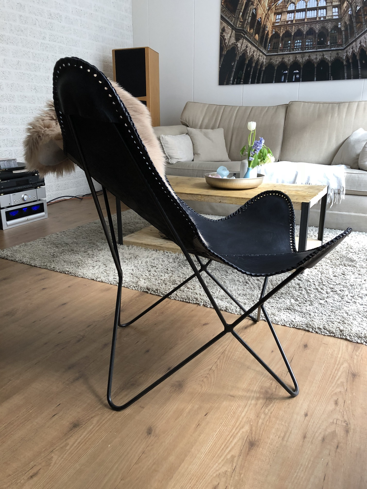 ... Butterfly Chair   Vlinderstoel   Leder   Black ...