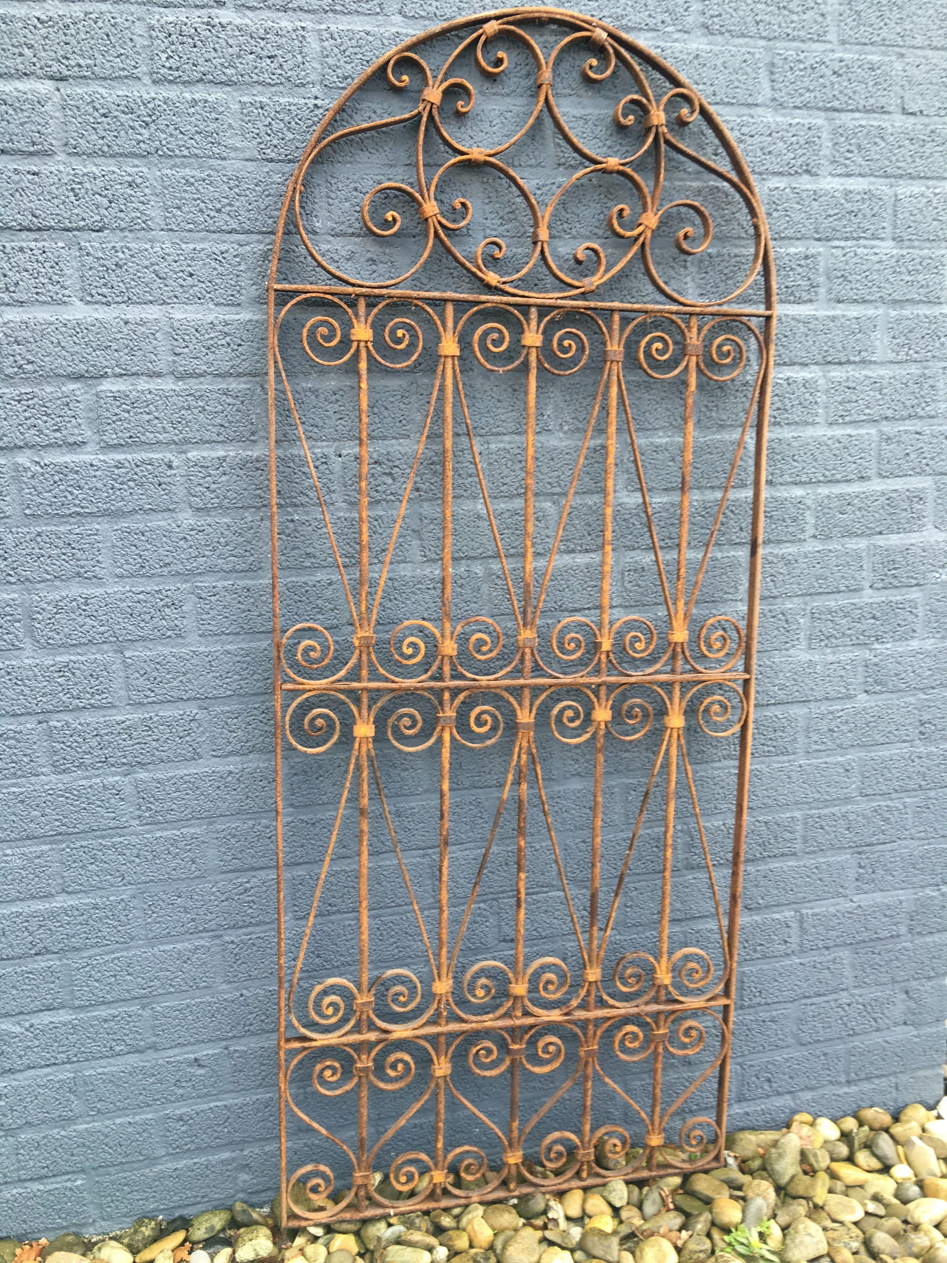 Goede tags: poorten, poort, tuin, hek smeedijzeren krullen, ijzeren hek BQ-86