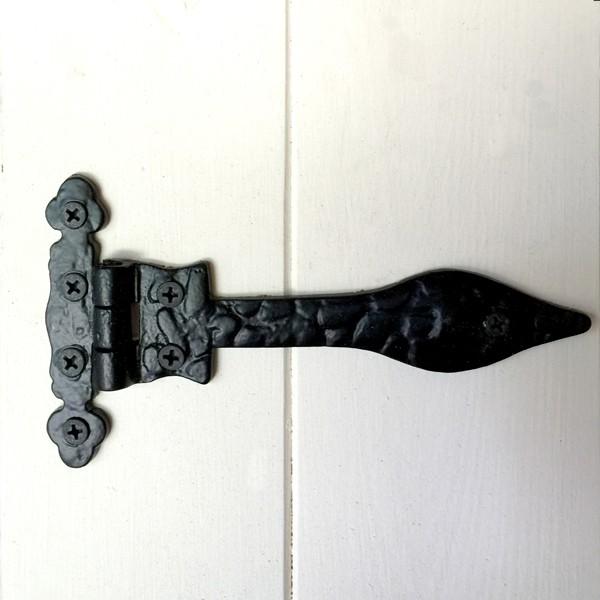 Magnifiek 2 x Deur scharnieren, deurband, zwart borstband antieke ijzeren BK57