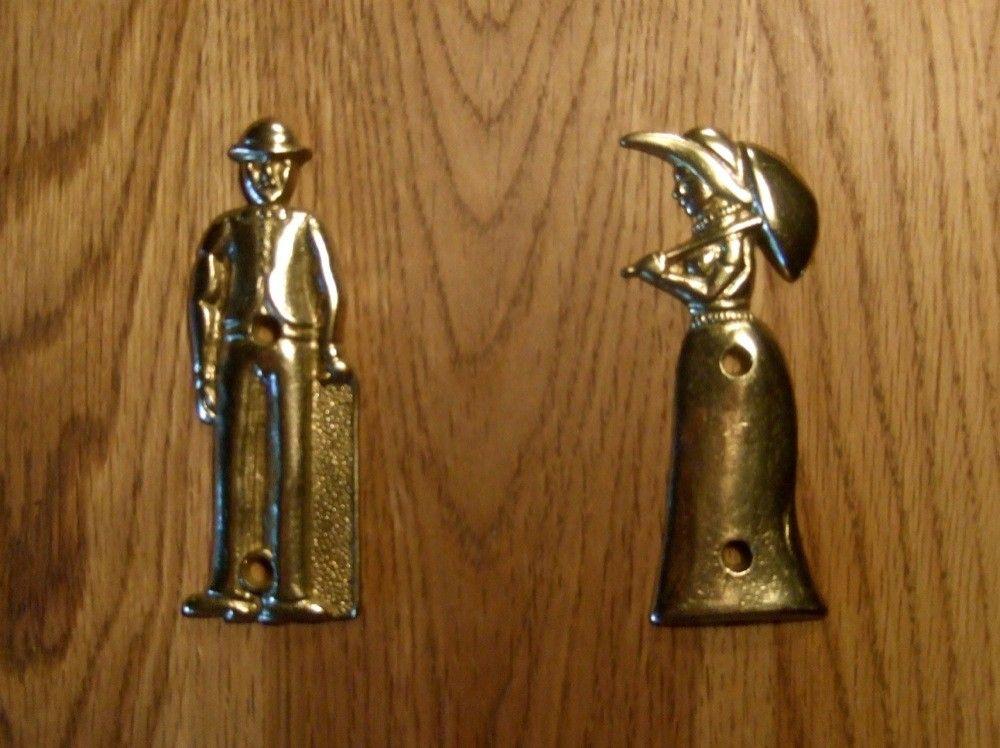 Ikea Badkamer Tegels ~ Set van tekens voor de wc deur, Lord en Lady, messing  HANDGEMAAKT EU