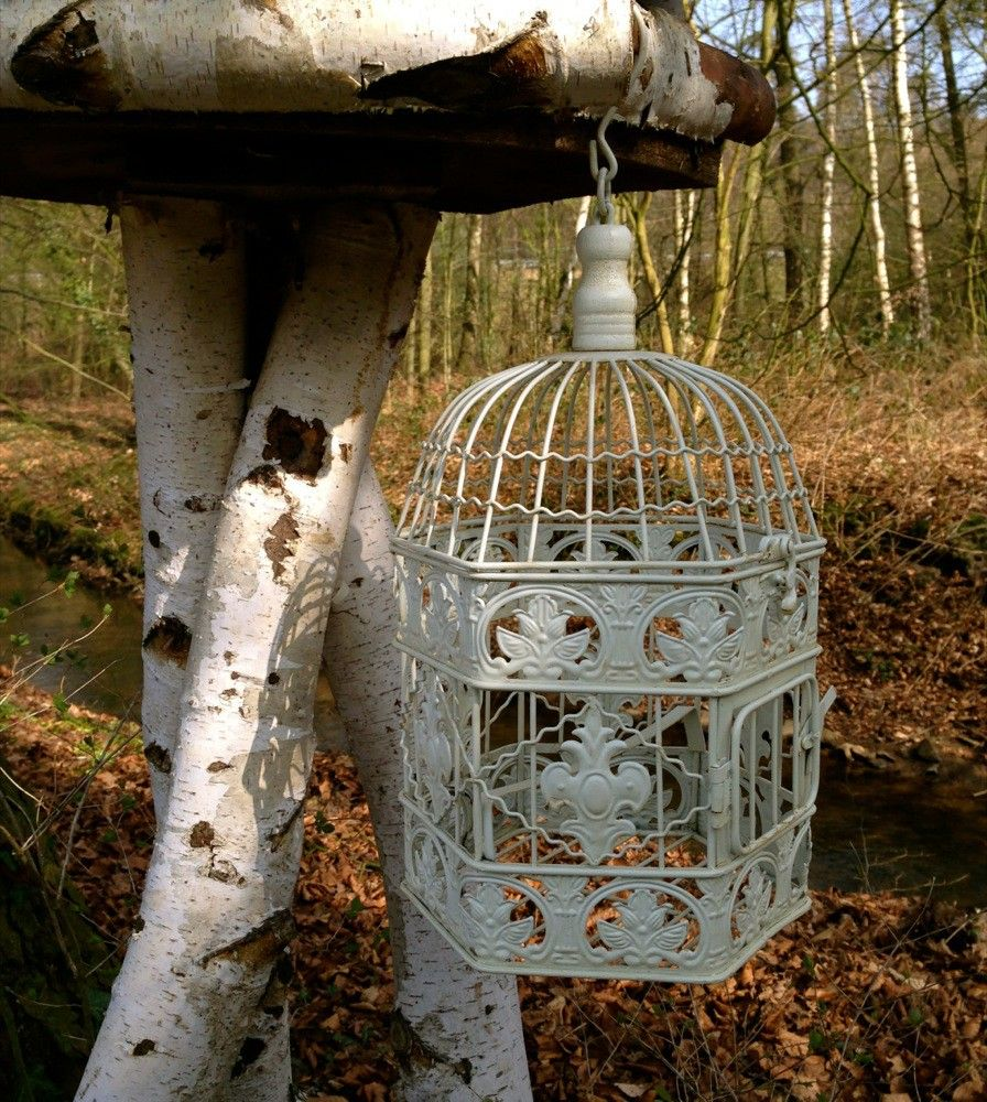 Vogelkooi opknoping mand decoratieve kooi metalen bloem hangende mand opknoping manden - Decoratie kooi ...