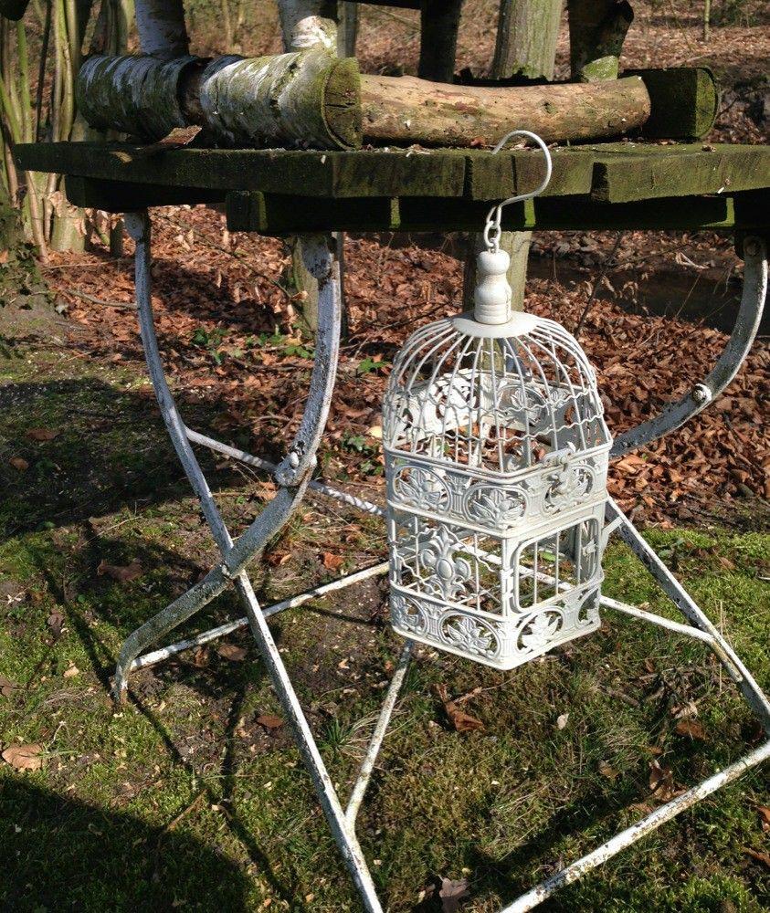 Kooi vogel huis sieraden kooi vogelkooi decoratief kooi metalen bloem hangende mand hang - Decoratie kooi ...