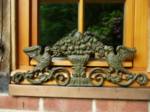 Wandornament gietijzer in de kleur green rust handgemaakt eu - Exterieur kleur eigentijds huis ...