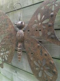 Muurvlinder wanddecoratie metaal dieren insecten tuin for Decoratie vlinders voor in de tuin