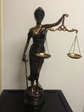 Fors brons metalen beeld van vrouwe justitia prachtig handgemaakt eu - Beeld van decoratie ...