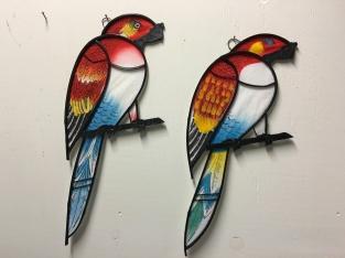 Prachtige grote set papagaaien vol in kleur handgemaakt eu - Exterieur kleur eigentijds huis ...